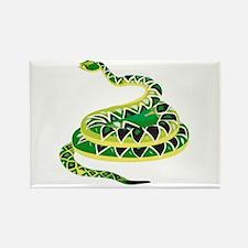 Green Snake Rectangle Magnet