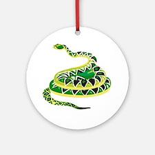 Green Snake Ornament (Round)