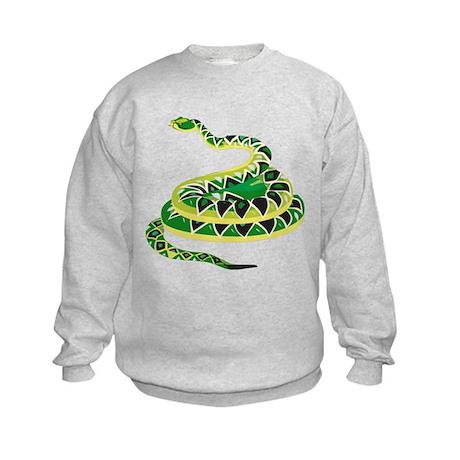 Green Snake Kids Sweatshirt