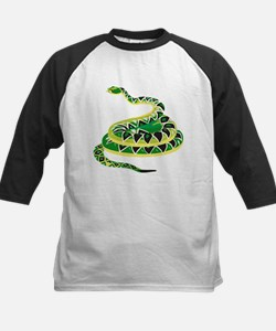 Green Snake Kids Baseball Jersey