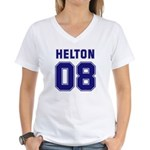 Helton 08 Women's V-Neck T-Shirt