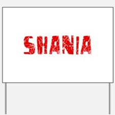 Shania Faded (Red) Yard Sign