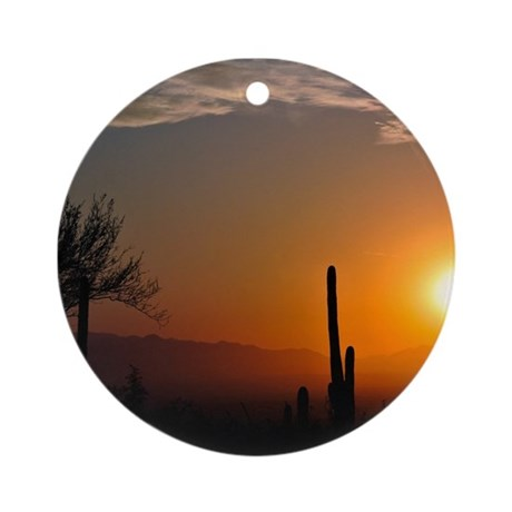 Desert Sunrise Ornament (Round)