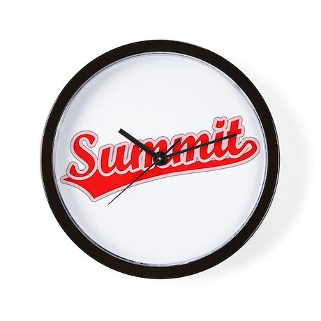 Retro Summit (Red) Wall Clock