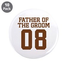 """Father of the Groom 08 3.5"""" Button (10 pack)"""