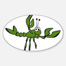 Green Crawfish Oval Decal