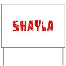 Shayla Faded (Red) Yard Sign