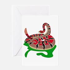 Angry Snake Greeting Card