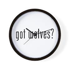 Got Wolves? Wall Clock