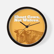 Shoot Cows Wall Clock