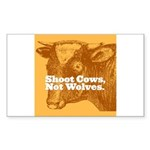Shoot Cows Rectangle Sticker