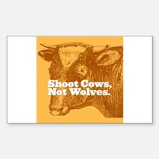 Shoot Cows Rectangle Decal