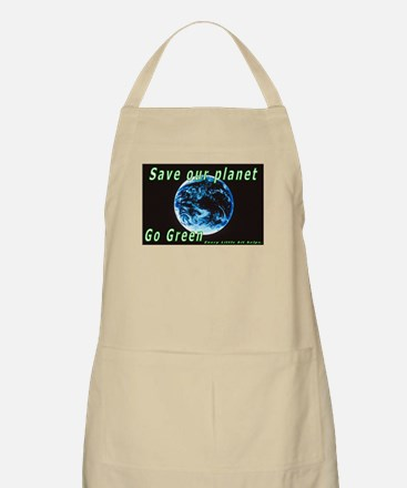 Save our Planet-Go Green BBQ Apron