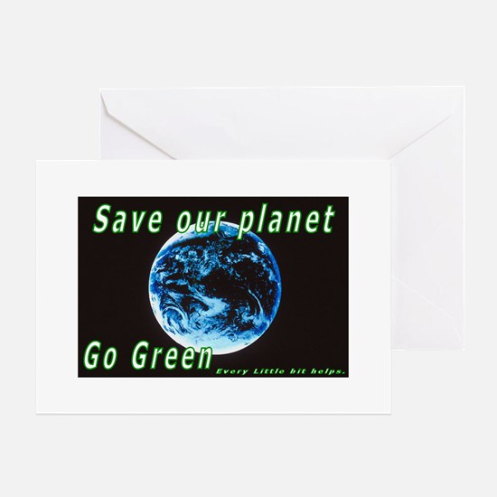 Save our Planet-Go Green Greeting Card