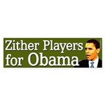 Zither Players for Obama bumper sticker
