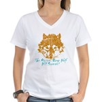 The Wolf Will Survive! Women's V-Neck T-Shirt