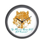 The Wolf Will Survive! Wall Clock