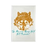 The Wolf Will Survive! Rectangle Magnet (100 pack)