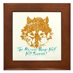 The Wolf Will Survive! Framed Tile