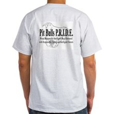 Pit Bulls P.R.I.D.E. Ash Grey T-Shirt