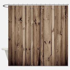 Unique Rustic Shower Curtain