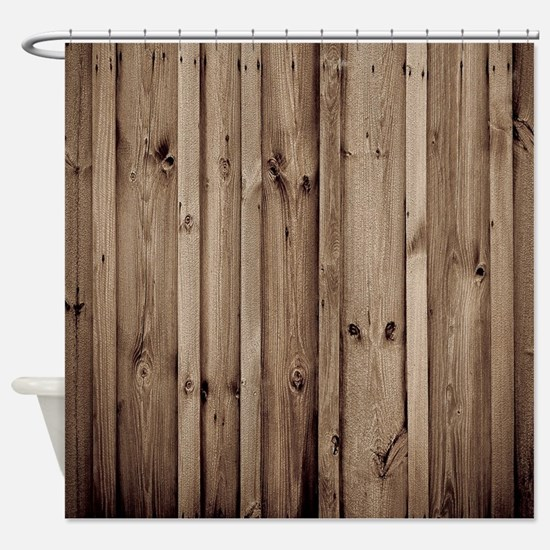 Cute Wooden plank Shower Curtain