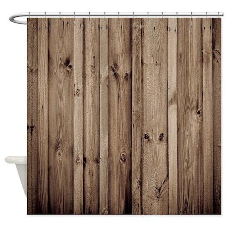 Funny Barn Wood Shower Curtain