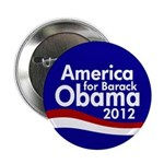 America for Barack Obama 2012 Button