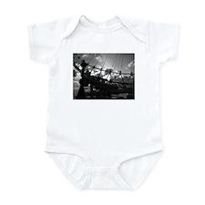 Cute Black and white ferris wheel Infant Bodysuit