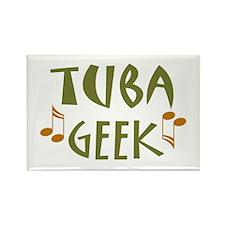 Tuba Geek Rectangle Magnet