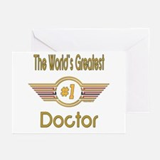 Number 1 Doctor Greeting Cards (Pk of 20)