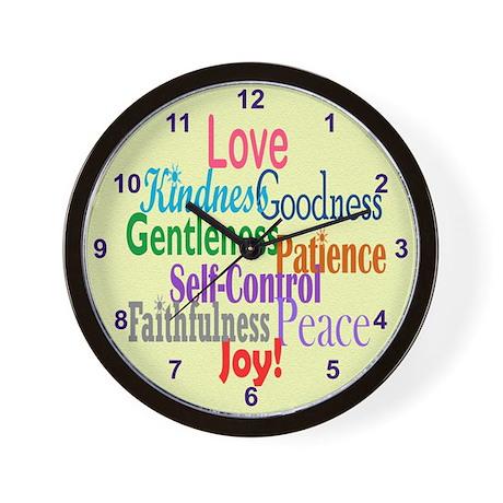 Fruit of the Spirit Wall Clock