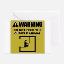 Do Not Feed The Cubicle Animal Greeting Card
