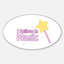 I Believe In Magic Oval Decal