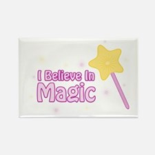 I Believe In Magic Rectangle Magnet