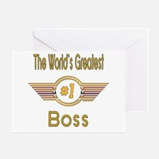 Number 1 Boss Greeting Card