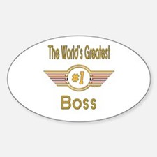 Number 1 Boss Oval Decal