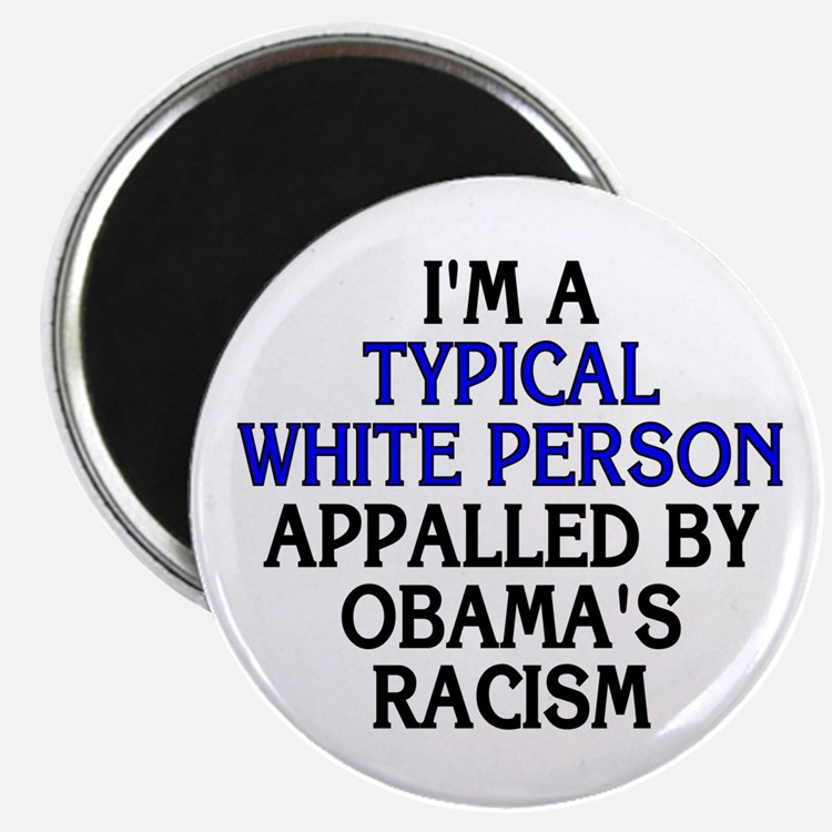 "Typical white person (2.25"" magnet)"