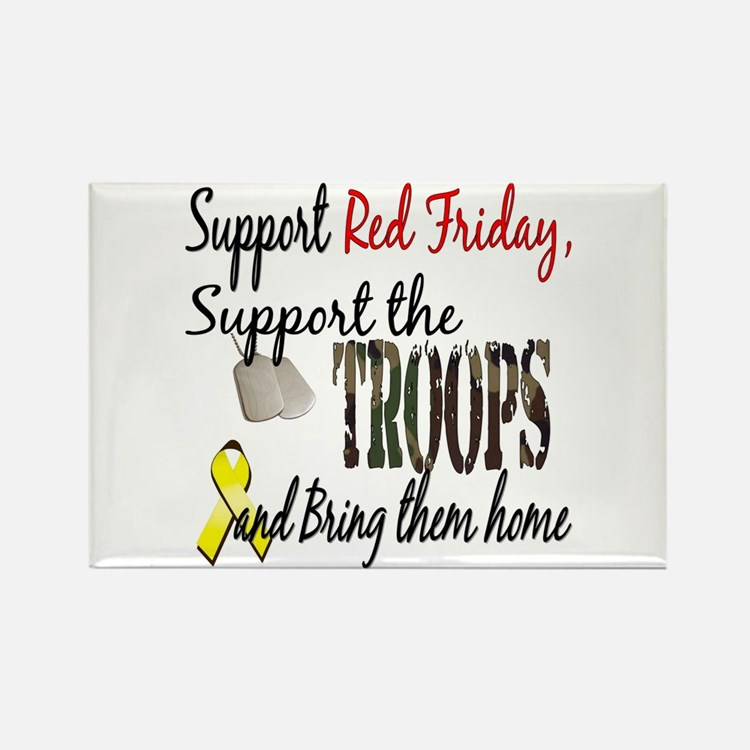 Support Red Friday Support Tr Rectangle Magnet