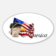 America 1 Oval Decal
