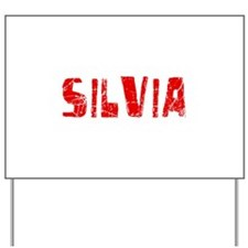 Silvia Faded (Red) Yard Sign