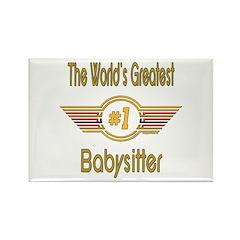 Number 1 Babysitter Rectangle Magnet (10 pack)