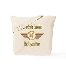 Number 1 Babysitter Tote Bag