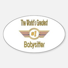 Number 1 Babysitter Oval Decal