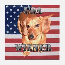 USA Wiener Tile Coaster