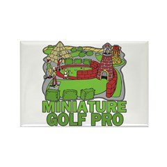 Miniature Golf Pro Rectangle Magnet (10 pack)