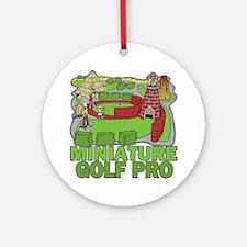 Miniature Golf Pro Ornament (Round)