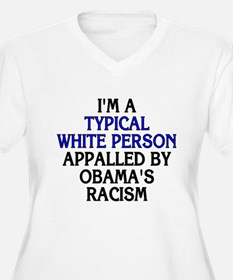 Typical white person (plus size v-neck t-shirt)