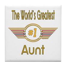 Number 1 Aunt Tile Coaster