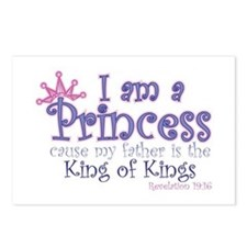 I am a Princess Postcards (Package of 8)